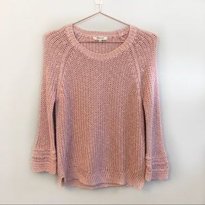 Madewell Knit sweater in blush